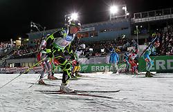 04.01.2012, DKB-Ski-ARENA, Oberhof, GER, E.ON IBU Weltcup Biathlon 2012, Staffel Frauen, im Bild Start // during relay Ladies of E.ON IBU World Cup Biathlon, Thüringen, Germany on 2012/01/04. EXPA Pictures © 2012, PhotoCredit: EXPA/ nph/ Hessland..***** ATTENTION - OUT OF GER, CRO *****
