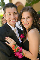 Smiling Young Couple at School Dance