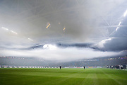 SOLNA, SWEDEN - MARCH 18: Smoke from flares fills the arena ahead of the Swedish Cup Semifinal between AIK and Djurgardens IF at Friends arena on March 18, 2018 in Solna, Sweden. Photo by Nils Petter Nilsson/Ombrello ***BETALBILD***