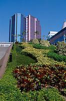 Modern highrises in Kowloon, Hong Kong, China.