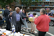 Residents dancing to to music at a Golden Jubilee street party in Jubilee Street in the Stepney Green area of east London, where hundreds turned out to celebrate the 50 year reign of Queen Elizabeth II.<br /> Celebrations took place across the United Kingdom with the centrepiece a parade and fireworks at Buckingham Palace, the Queen's London residency. Queen Elizabeth ascended to the British throne in 1952 upon the death of her father, King George VI.