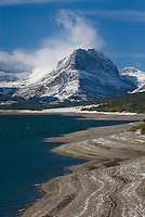 Mount Grinnell from Lake Sherburne, Glacier National Park Montana