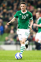 Football - UEFA Championship Qualifier - Republic of Ireland v FYR Macedonia<br /> Robbie Keane (Capt.)(Rep of Ireland) in action in the UEFA Championship Group B Qualifier between the Republic of Ireland and FYR Macedonia at the Aviva Stadium in Dublin.