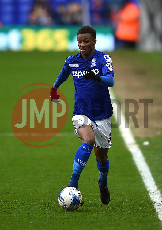 Birmingham City's Demarai Gray in action during the Sky Bet Championship match between Birmingham City and Rotherham United at St Andrew's Stadium on 3 April 2015 in Birmingham, England - Photo mandatory by-line: Paul Knight/JMP - Mobile: 07966 386802 - 03/04/2015 - SPORT - Football - Birmingham - St Andrew's Stadium - Birmingham City v Rotherham United - Sky Bet Championship