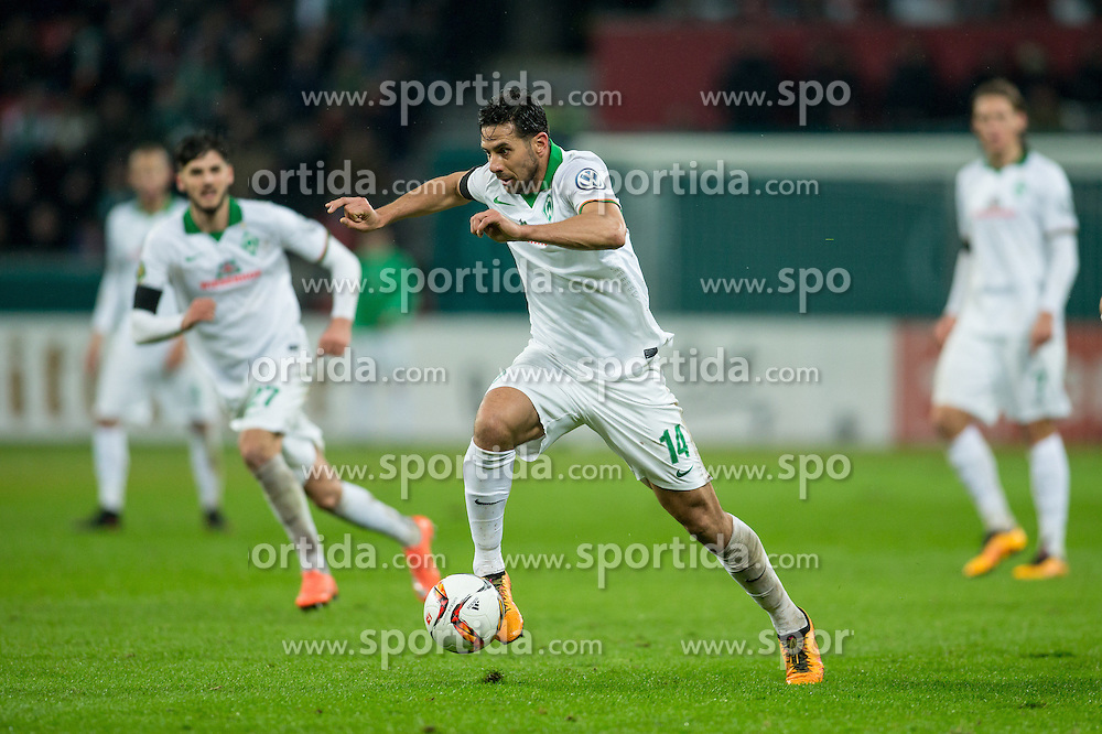 09.02.2016, BayArena, Leverkusen, GER, DFB Pokal, Bayer 04 Leverkusen vs SV Werder Bremen, Viertelfinale, im Bild Claudio Pizarro (SV Werder Bremen #14) // during German DFB Pokal quaterfinal match between Bayer 04 Leverkusen and SV Werder Bremen at the BayArena in Leverkusen, Germany on 2016/02/09. EXPA Pictures &copy; 2016, PhotoCredit: EXPA/ Eibner-Pressefoto/ Sch&uuml;ler<br /> <br /> *****ATTENTION - OUT of GER*****