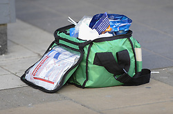 May 6, 2018 - London, MIDDLESEX, UK - LONDON, UK.  An abandoned medical bag near Palmerston Road in Wealdstone, near Harrow, north west London, following reports of two separate shooting incident around midday on Sunday 6 May 2018.  The two victims are a 12 year old boy and a15 year old boy.  Investigations are ongoing. (Credit Image: © Stephen Chung/London News Pictures via ZUMA Wire)