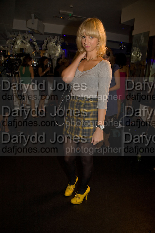LAYLA WEST, Elizabeth Arden's 'Eight Hour' party. Kingly St. London. 7 August 2008. *** Local Caption *** -DO NOT ARCHIVE-© Copyright Photograph by Dafydd Jones. 248 Clapham Rd. London SW9 0PZ. Tel 0207 820 0771. www.dafjones.com.