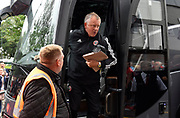 Sheffield United manager Chris Wilder gets off the team bus on arrival at the Vitality Stadium ahead of the Premier League match between Bournemouth and Sheffield United at the Vitality Stadium, Bournemouth, England on 10 August 2019.
