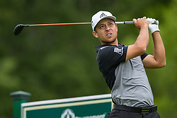May 30, 2019 - Dublin, OH, U.S. - DUBLIN, OH - MAY 30: Xander Schauffele plays his shot from the 18th tee during the Memorial Tournament presented by Nationwide at Muirfield Village Golf Club on May 30, 2018 in Dublin, Ohio. (Photo by Adam Lacy/Icon Sportswire) (Credit Image: © Adam Lacy/Icon SMI via ZUMA Press)