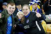 Portsmouth fans during the The FA Cup 3rd round match between Norwich City and Portsmouth at Carrow Road, Norwich, England on 5 January 2019.