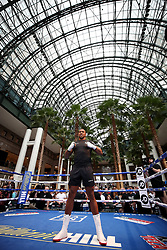 Anthony Joshua during the public work-out at the Brookfield Place, New York.