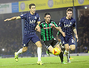 Ian Henderson, Luke Prosser, Glen Rea during the Sky Bet League 1 match between Southend United and Rochdale at Roots Hall, Southend, England on 31 October 2015. Photo by Daniel Youngs.