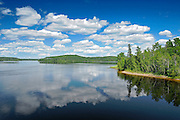 CLouds reflected in Kenogamisis Lake<br /> Geraldton<br /> Ontario<br /> Canada
