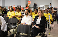 Earthjustice lawyer's at the Louisiana's Department of Environmental Quality samples of pollution from Formosa's plant in Texas at  public hearing on whether to approve the 15 air permits for Taiwanese company Formosa Plastics in Vacherie, LA on July 9, 2019