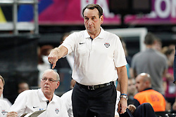 11.09.2014, City Arena, Barcelona, ESP, FIBA WM, USA vs Litauen, Halbfinale, im Bild USA's coach Mike Krzyzewski // during FIBA Basketball World Cup Spain 2014 semi-final match between United States and Lithuania at the City Arena in Barcelona, Spain on 2014/09/11. EXPA Pictures © 2014, PhotoCredit: EXPA/ Alterphotos/ Acero<br /> <br /> *****ATTENTION - OUT of ESP, SUI*****