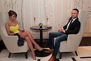 SARAH HARDING; TOM CRANE, The London Bar and Club awards. Intercontinental Hotel. Park Lane, London. 6 June 2011. <br /> <br />  , -DO NOT ARCHIVE-&copy; Copyright Photograph by Dafydd Jones. 248 Clapham Rd. London SW9 0PZ. Tel 0207 820 0771. www.dafjones.com.