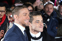 Charlie Hunnam, Rami Malek, The Lost City of Z - UK film premiere, The British Museum, London UK, 16 February 2017, Photo by Richard Goldschmidt