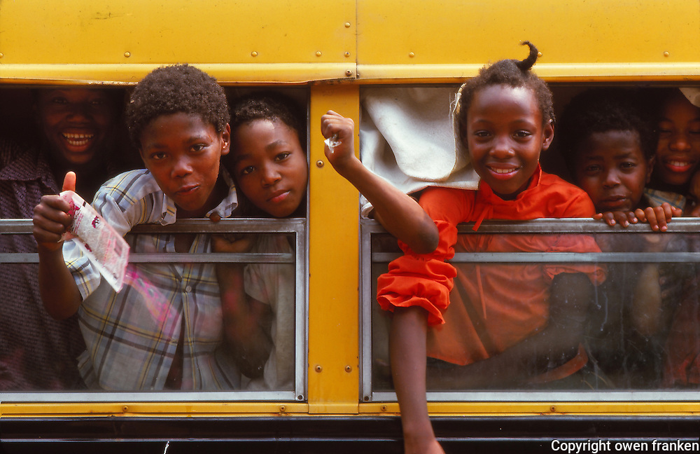 kids on a schoolbus, Georgia, USA
