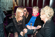 MARGARITA WENNBERG; SASHA VOLKOVA; PHILIP TREACY; AMANDA ELIASCH, Lauren Goldstein Crowe hosts reception to thank those that particitated in the research for her book: Isabella, A Life in Fashion. The Fumoir. Claridge's. London. 8 November 2010. -DO NOT ARCHIVE-© Copyright Photograph by Dafydd Jones. 248 Clapham Rd. London SW9 0PZ. Tel 0207 820 0771. www.dafjones.com.