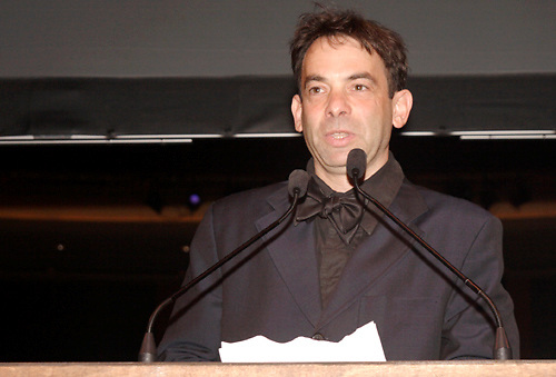 2007 fiction winner Brad Kessler announces the 2009 fiction winner during the 2009 Dayton Literary Peace Prize dinner and awards presentation at the Schuster Center in downtown Dayton, Sunday November 08, 2009.
