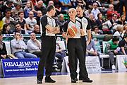 DESCRIZIONE : Campionato 2014/15 Dinamo Banco di Sardegna Sassari - Openjobmetis Varese<br /> GIOCATORE : Carmelo LoGuzzo Roberto Chiari Maurizio Biggi<br /> CATEGORIA : Arbitro Referee Before Pregame<br /> SQUADRA : AIAP<br /> EVENTO : LegaBasket Serie A Beko 2014/2015<br /> GARA : Dinamo Banco di Sardegna Sassari - Openjobmetis Varese<br /> DATA : 19/04/2015<br /> SPORT : Pallacanestro <br /> AUTORE : Agenzia Ciamillo-Castoria/L.Canu<br /> Predefinita :