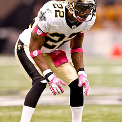 October 3, 2010; New Orleans, LA, USA; New Orleans Saints cornerback Tracy Porter (22) during the first quarter against the Carolina Panthers at the Louisiana Superdome. Mandatory Credit: Derick E. Hingle