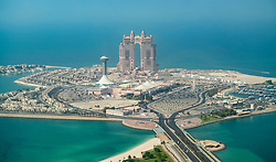 View of Al Kasir Island and the Marina Mall  in Abu Dhabi , UAE, United Arab Emirates