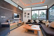 Upper Villa living room, Inasia Villa, Lipa Noi, Koh Samui, Thailand