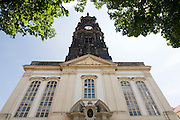 Dresden Neustadt, DreiKoenigskirche,  Dresden, Sachsen, Deutschland.|.Dresden, Germany,  Dresden Neustadt, DreiKoenigskirche
