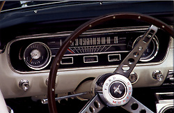 Ford Mustang dashboard and steering wheel