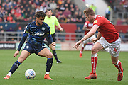 Leeds United forward Tyler Roberts (11) on the attack during the EFL Sky Bet Championship match between Bristol City and Leeds United at Ashton Gate, Bristol, England on 9 March 2019.