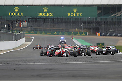 August 18, 2018 - Towcester, United Kingdom - MICK SCHUMACHER of Germany and Prema Theodore Racing leads the start of the 2018 FIA Formula 3 European Championship race 2 at Silverstone Circuit in Towcester, United Kingdom. (Credit Image: © James Gasperotti via ZUMA Wire)