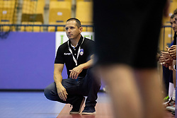 Sasa Praprotnik, head coach of Slovenia during handball match between National teams of Slovenia and Iceland in Main Round of 2018 EHF U20 Men's European Championship, on July 25, 2018 in Arena Zlatorog, Celje, Slovenia. Photo by Urban Urbanc / Sportida