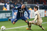 FOOTBALL - CHAMPIONS LEAGUE 2012/2013 PSG VS ZAGREB - 06/11/2012 - JEREMY MENEZ (PARIS SAINT-GERMAIN), JOSIP PIVARIC (ZAGREB)