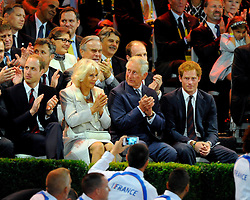 His Royal Highness, Prince Harry receives a round of applause  - Photo mandatory by-line: Joe Meredith/JMP - Mobile: 07966 386802 - 10/09/14 - The Invictus Opening Ceremony - London - Queen Elizabeth Olympic Park