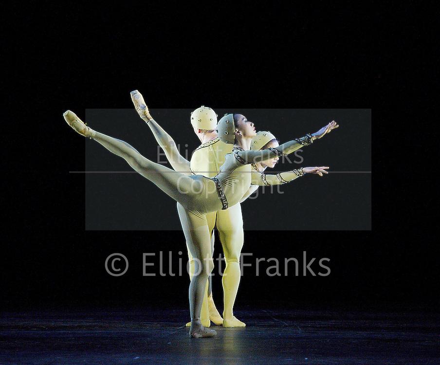 The Royal Ballet <br /> Frederick Quintuple Ashton Bill <br /> at the Royal Opera House, Covent Garden, London, Great Britain <br /> 11th February 2013 <br /> general rehearsal <br /> <br /> Monotones I &amp; II<br /> by Frederick Ashton <br /> <br /> staging by Lynn Wallis <br /> Ballet Master Gary Avis<br /> <br /> Emma Maguire <br /> <br /> Akane Takada<br /> <br /> Dawid Trzensimiech<br /> <br /> Marianela Nunez<br /> <br /> Federico Bonelli <br /> <br /> Edward Watson <br /> <br /> Photograph by Elliott Franks