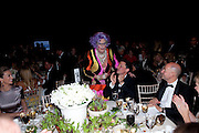 BARRY HUMPHRIES; ,  The Ormeley dinner in aid of the Ecology Trust and the Aspinall Foundation. Ormeley Lodge. Richmond. London. 29 April 2009