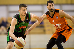 Rok Badzim of Petrol Olimpija during Basketballl match between Petrol Olimpija Ljubljana and KK Cedevita in Round #18 of ABA League, on January 27, 2018 in Tivoli sports hall, Ljubljana, Slovenia. Photo by Urban Urbanc / Sportida