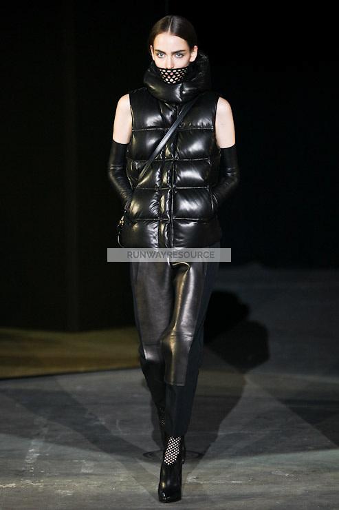 Zuzanna Bijoch walks down runway for F2012 Alexander Wang's collection in Mercedes Benz fashion week in New York on Feb 12, 2012 NYC