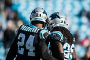 December 23, 2018. Panthers vs Falcons. James Bradberry, CB, Donte Jackson, CB