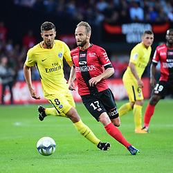 Etienne Didot of Guingamp during the Ligue 1 match between EA Guingamp and Paris Saint Germain at Stade du Roudourou on August 13, 2017 in Guingamp, . (Photo by Dave Winter/Icon Sport)