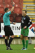 Luke Freeman of Bristol City recieves yellow card during the Sky Bet Championship match between Rotherham United and Bristol City at the New York Stadium, Rotherham, England on 28 November 2015. Photo by Ian Lyall.