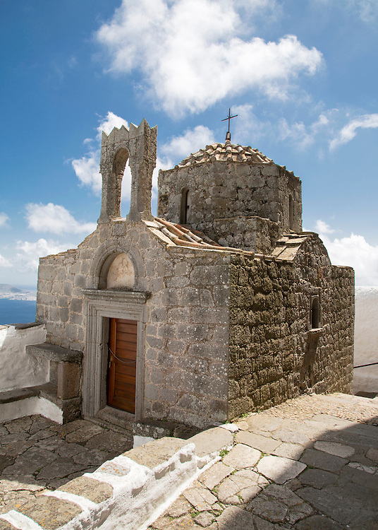 A small chapel outside the  Monastery of St. John in Patmos, Greece