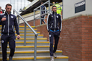 Leicester City midfielder Riyad Mahrez (26)  arrives at the ground before the Barclays Premier League match between Crystal Palace and Leicester City at Selhurst Park, London, England on 19 March 2016. Photo by Phil Duncan.