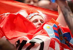 13.01.2020, Stadthalle, Graz, AUT, EHF Euro 2020, Kroatien vs Serbien, Gruppe A, im Bild Kroatische Fans // fans of Croatia during the EHF 2020 European Handball Championship, group A match between Croatia and Serbia at the Stadthalle in Graz, Austria on 2020/01/13. EXPA Pictures © 2020, PhotoCredit: EXPA/ Erwin Scheriau