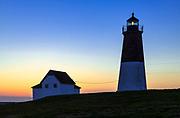 Judith Point Lighthouse, Narragansett, Rhode Island, USA.