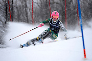 08 MAR 2013: Kristina Riis-Johannessen of the University of Vermont during the Slalom competition at the 2013 NCAA Men and Women's Division I Skiing Championship held at the Middlebury Snowbowl in Middlebury, VT. Riis-Johannessen placed second in the event. © Brett Wilhelm