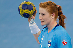 Lina Krhlikar of Slovenia during handball match between Women National Teams of Slovenia and Czech Republic of 4th Round of EURO 2012 Qualifications, on March 25, 2012, in Arena Stozice, Ljubljana, Slovenia. (Photo by Vid Ponikvar / Sportida.com)