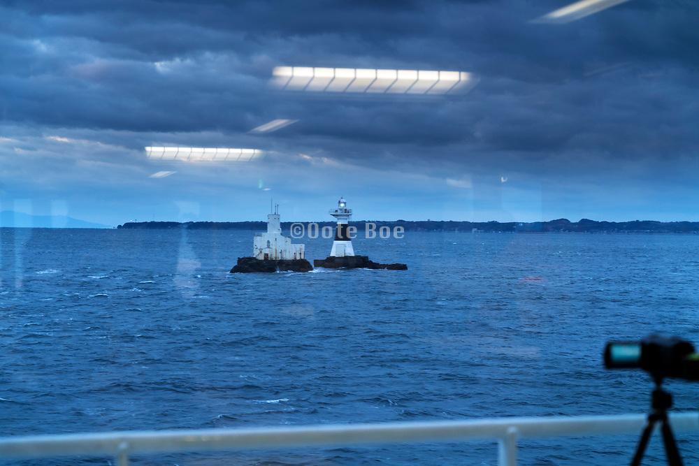 Tokyo Bay on the Tokyo-Wan ferry between Kurihama and Kanaya port Japan