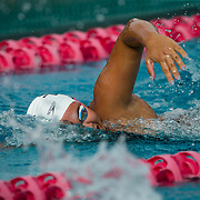 16 November 2017: The San Diego State women's swim team competes in the 2017 A3 Performance Invitational held at the SDSU Aquaplex. SDSU freshman Zeynep Odabasi competes in the 500 yard freestyle event.<br /> www.sdsuaztecphotos.com